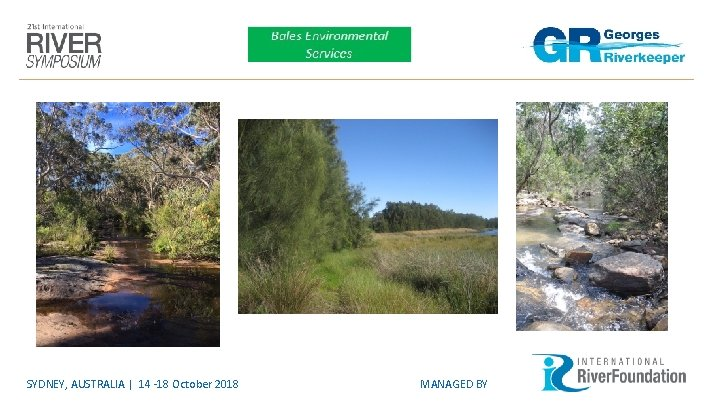 SYDNEY, AUSTRALIA | 14 -18 October 2018 MANAGED BY