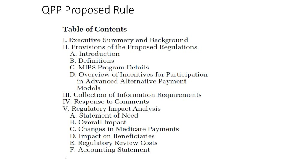 QPP Proposed Rule