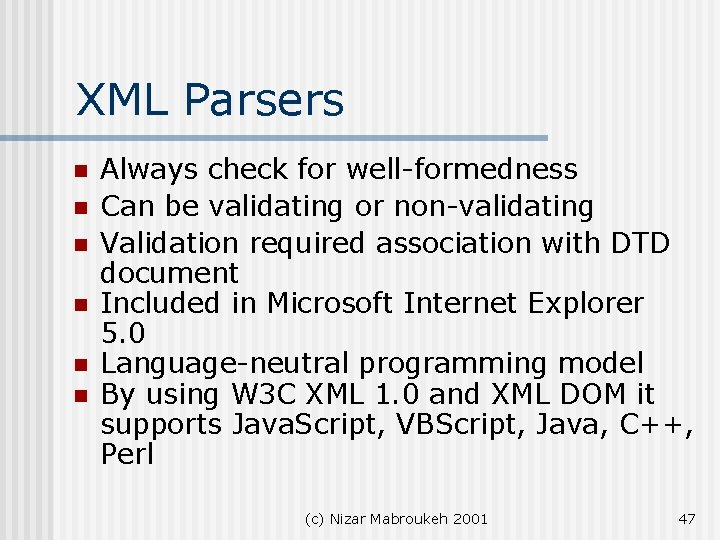 Validating and non validating parsers with xml 23 dating 16