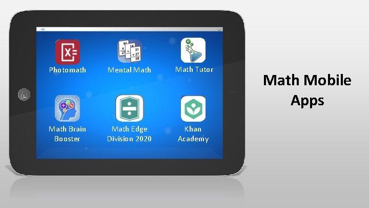 Photomath Mental Math Tutor Math Brain Booster Math Edge Division 2020 Khan Academy Math