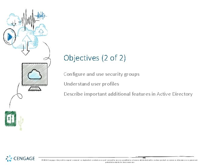 Objectives (2 of 2) Configure and use security groups Understand user profiles Describe important