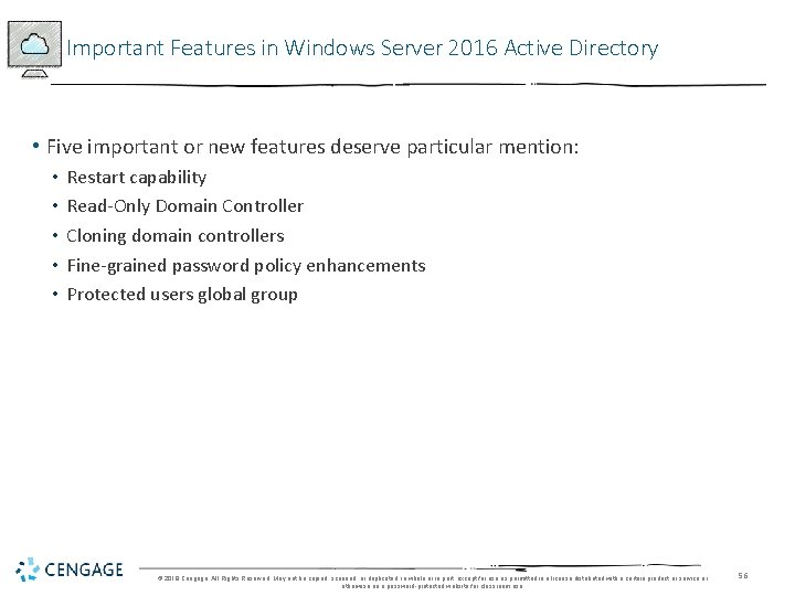 Important Features in Windows Server 2016 Active Directory • Five important or new features