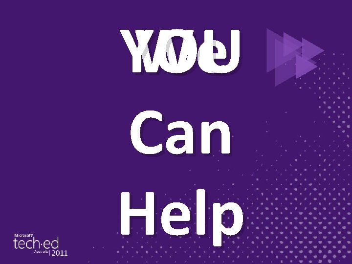 We YOU Can Help