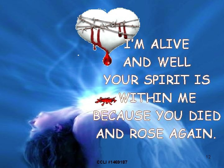 I'M ALIVE AND WELL YOUR SPIRIT IS WITHIN ME BECAUSE YOU DIED AND ROSE