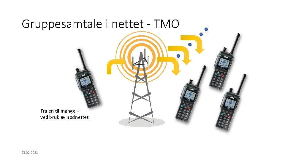 Gruppesamtale i nettet - TMO Fra en til mange – ved bruk av nødnettet