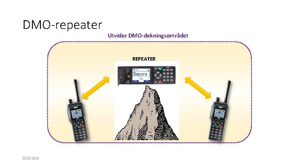 DMO-repeater Utvider DMO-dekningsområdet REPEATER 23. 02. 2021