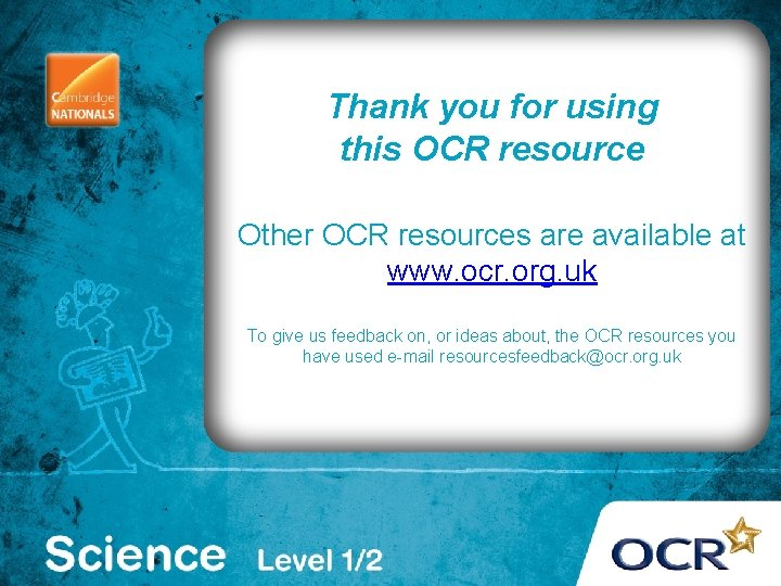 . Thank you for using this OCR resource Other OCR resources are available at