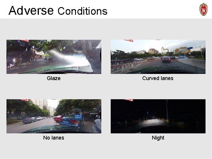 Adverse Conditions Glaze Curved lanes Rain No lanes Night