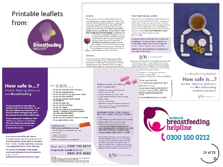 Printable leaflets from: 18 of 23