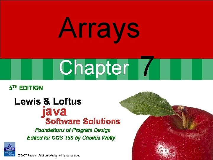 Arrays 7 1