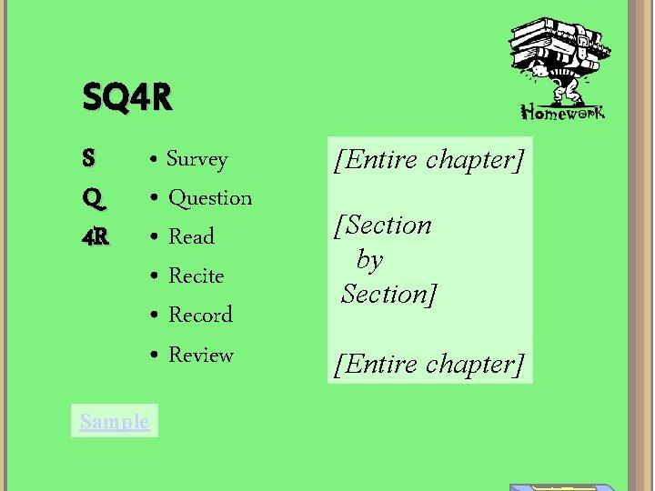 SQ 4 R S Q 4 R • Survey • Question • Read •