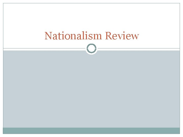 Nationalism Review
