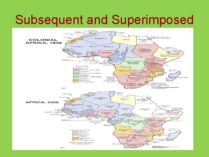 Subsequent and Superimposed