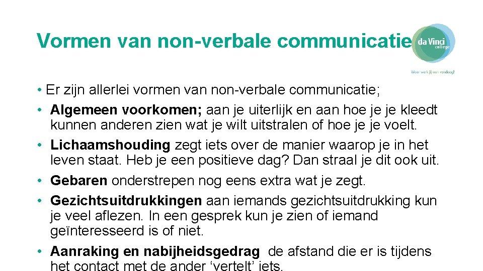 Van verbale communicatie non vormen 5 manieren