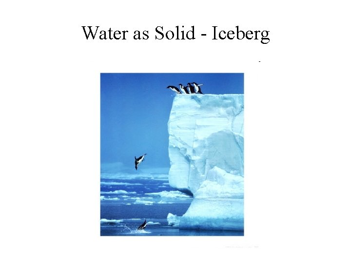 Water as Solid - Iceberg