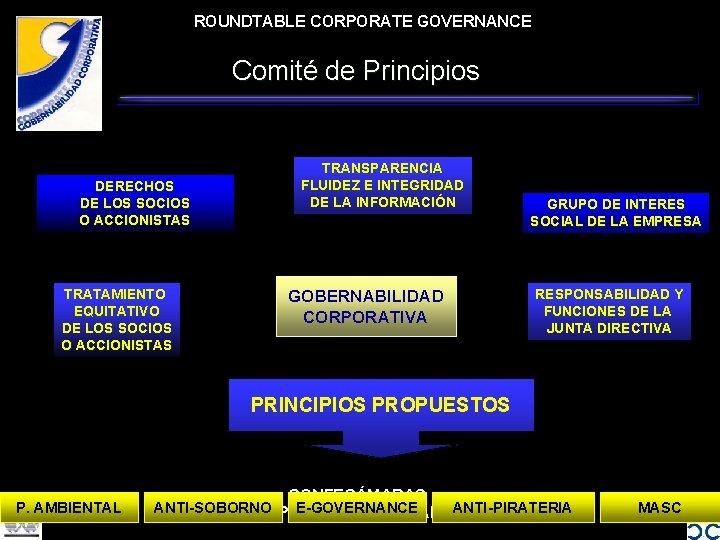 ROUNDTABLE CORPORATE GOVERNANCE Comité de Principios DERECHOS DE LOS SOCIOS O ACCIONISTAS TRATAMIENTO EQUITATIVO