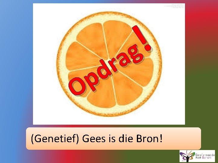 ! g a r d p O (Genetief) Gees is die Bron!
