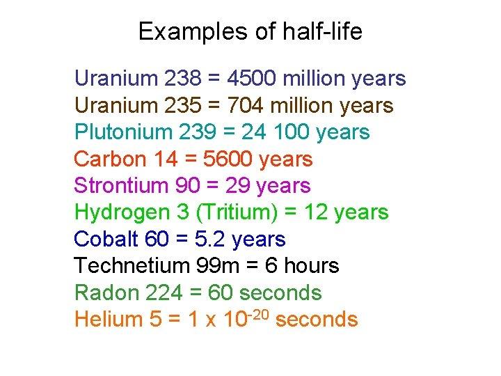 uraniu dating gcse)