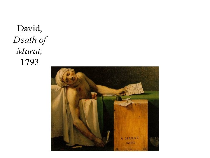 David, Death of Marat, 1793