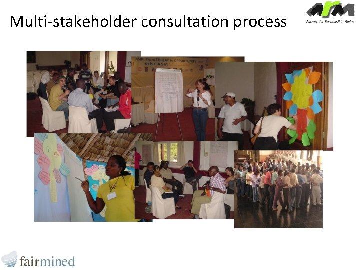 Multi-stakeholder consultation process