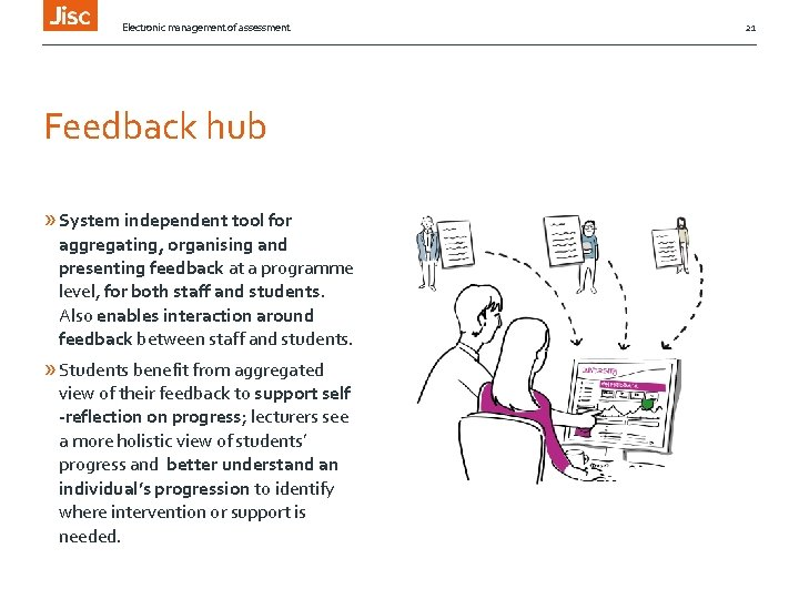 Electronic management of assessment Feedback hub » System independent tool for aggregating, organising and
