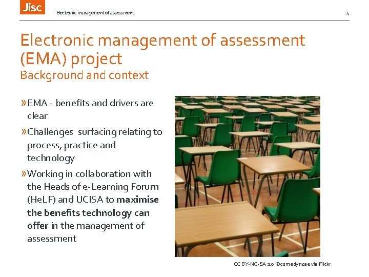 Electronic management of assessment 4 Electronic management of assessment (EMA) project Background and context