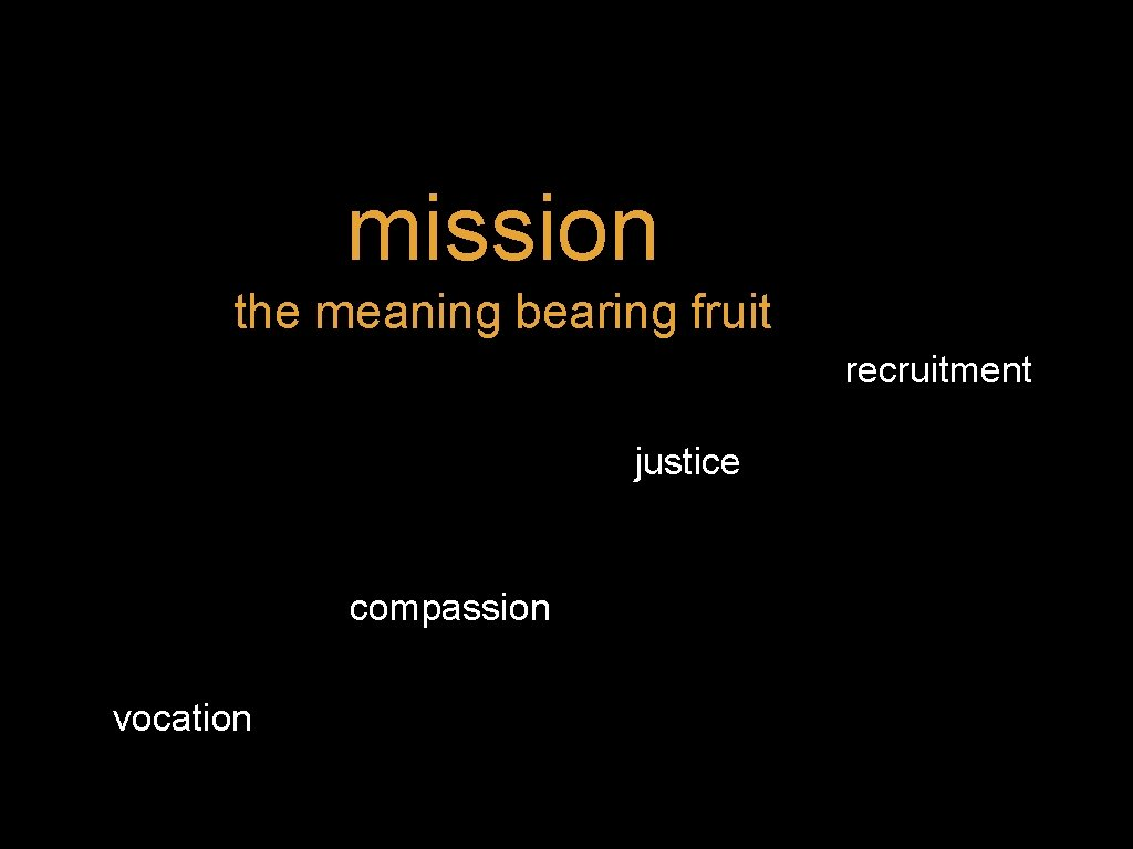 mission the meaning bearing fruit recruitment justice compassion vocation