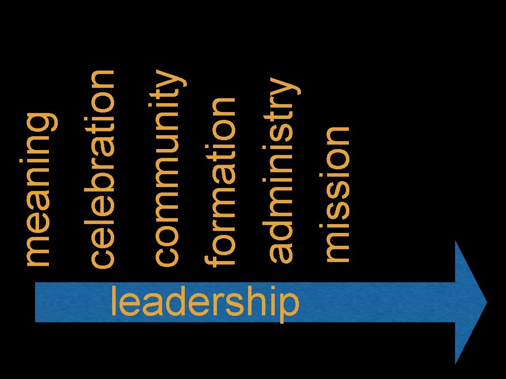 leadership community formation administry mission celebration meaning