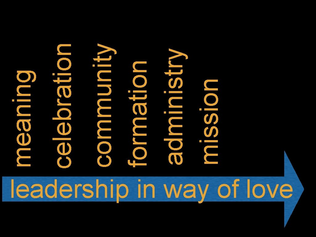 leadership in way of love community formation administry mission celebration meaning