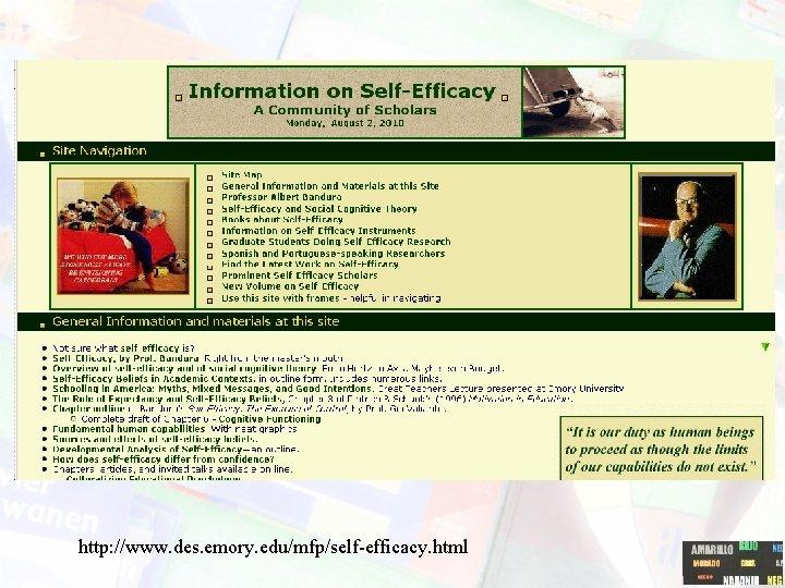 http: //www. des. emory. edu/mfp/self-efficacy. html