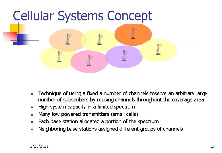 Cellular Systems Concept n n n Technique of using a fixed a number of
