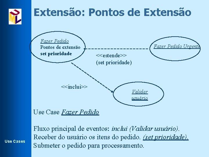 Extensão: Pontos de Extensão Fazer Pedido Pontos de extensão set prioridade Fazer Pedido Urgente