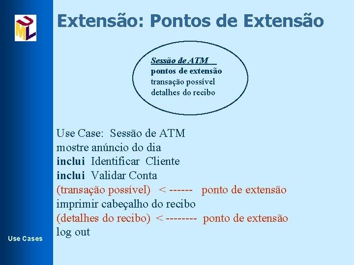 Extensão: Pontos de Extensão Sessão de ATM pontos de extensão transação possível detalhes do
