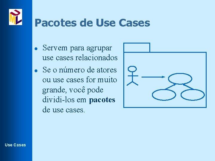 Pacotes de Use Cases l l Use Cases Servem para agrupar use cases relacionados