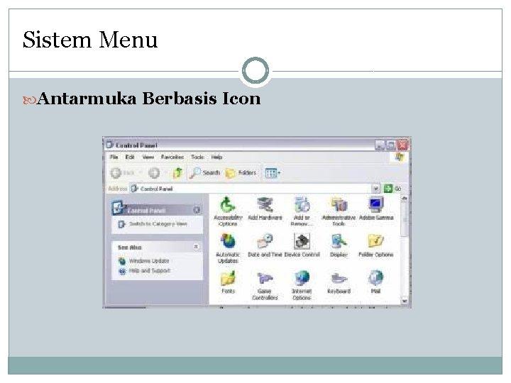 Sistem Menu Antarmuka Berbasis Icon