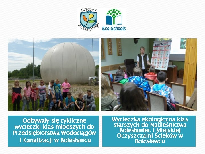Odbywały się cykliczne wycieczki klas młodszych do Przedsiębiorstwa Wodociągów i Kanalizacji w Bolesławcu Wycieczka