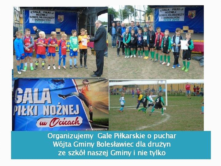 Organizujemy Gale Piłkarskie o puchar Wójta Gminy Bolesławiec dla drużyn ze szkół naszej Gminy