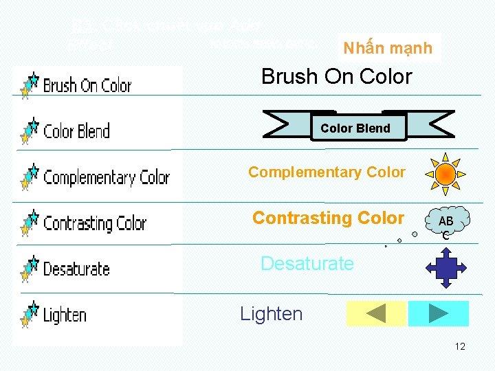 B 3: Click chuét vµo Add NHOÙM HIEÄU ÖÙNG: Effect Nhấn mạnh Brush On