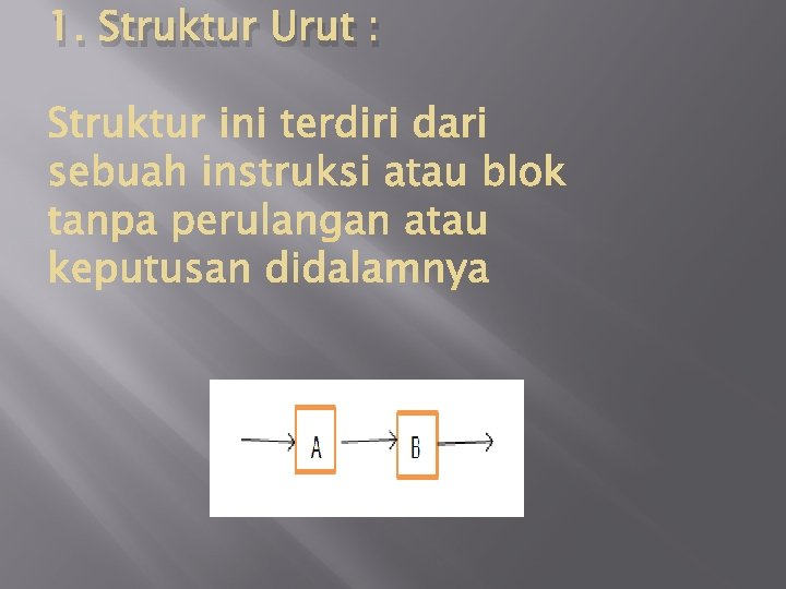 1. Struktur Urut :