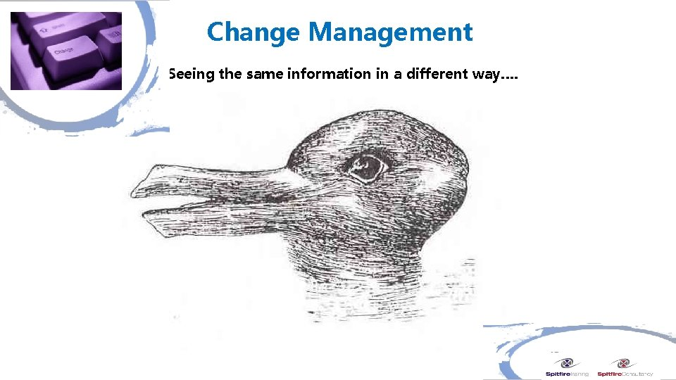 Change Management Seeing the same information in a different way….