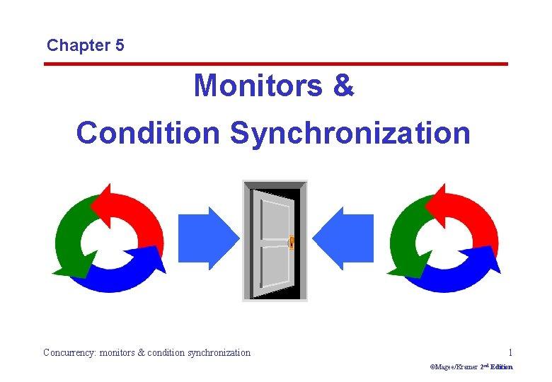 Chapter 5 Monitors & Condition Synchronization Concurrency: monitors & condition synchronization 1 ©Magee/Kramer 2