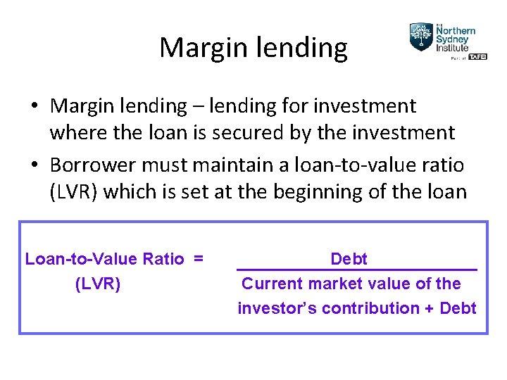 margin lending vs cfd s broker cfd konditionen