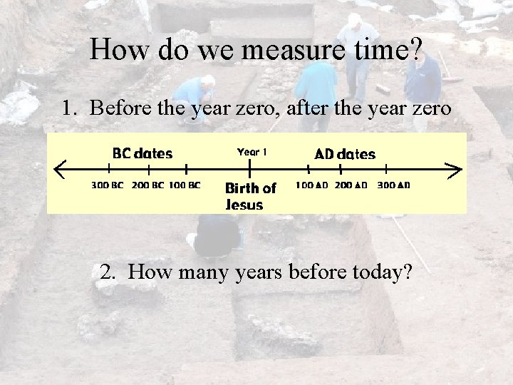 How do we measure time? 1. Before the year zero, after the year zero