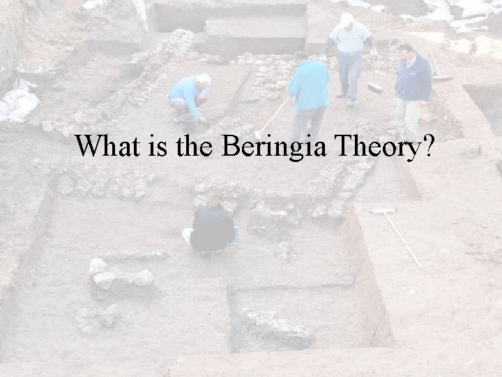 What is the Beringia Theory?