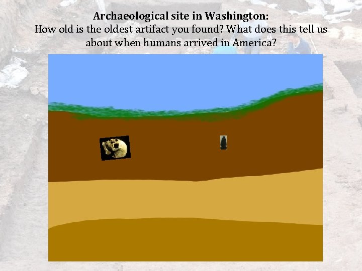 Archaeological site in Washington: How old is the oldest artifact you found? What does
