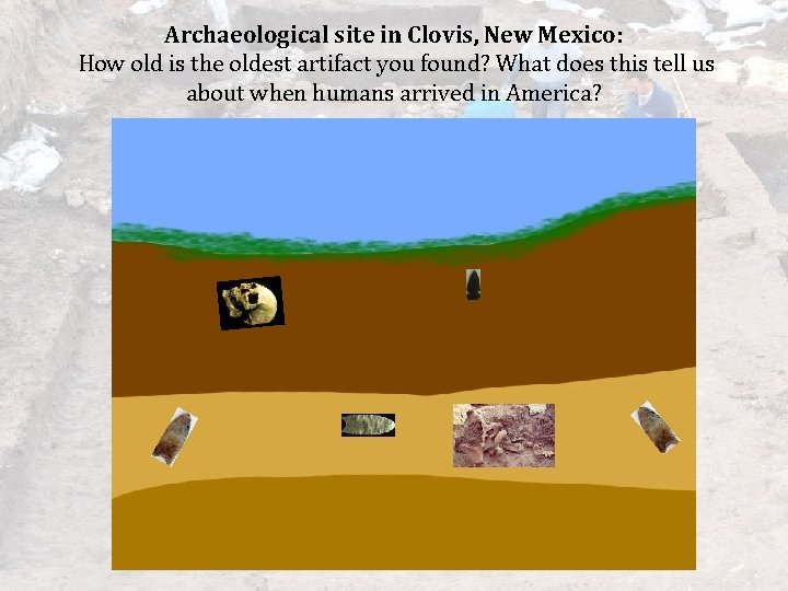 Archaeological site in Clovis, New Mexico: How old is the oldest artifact you found?
