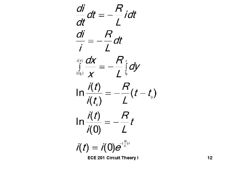 ECE 201 Circuit Theory I 12