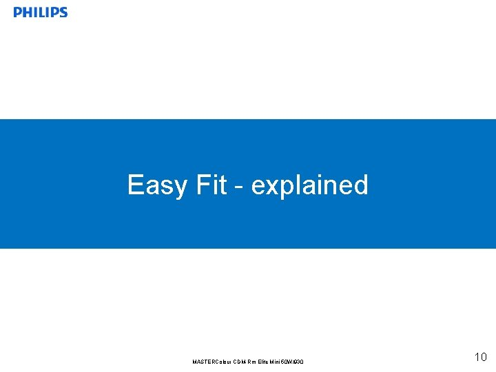 Easy Fit - explained MASTERColour CDM-Rm Elite Mini 50 W/930 10