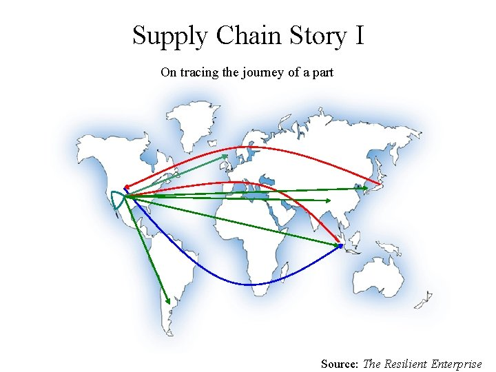 Supply Chain Story I On tracing the journey of a part Source: The Resilient