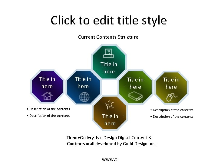 Click to edit title style Current Contents Structure Title in here • Description of